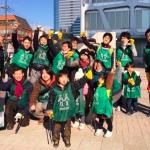 「グリーン小バード」ゴミ拾い活動に「こすぎ朝学」メンバが参加しました(2015/1/17)
